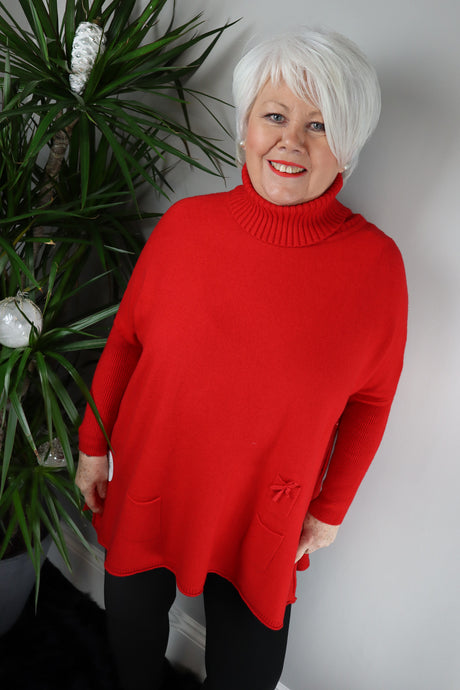 Elizabeth Roll Neck Boxy Jumper