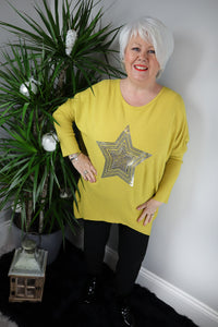 Geri Embellished Star Knit