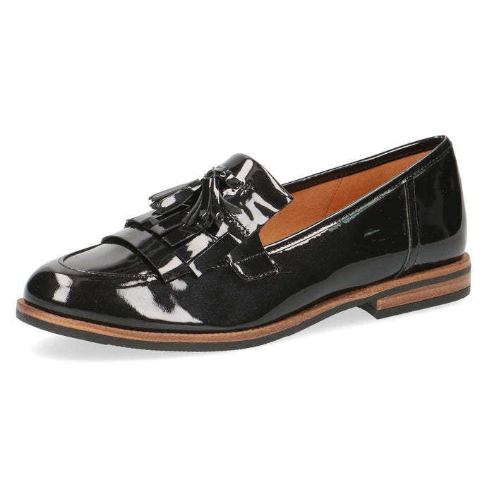 Caprice Black Patent Loafer