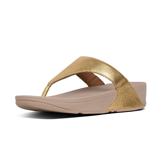 FitFlop Lulu Leather Toe Post - Artisan Gold