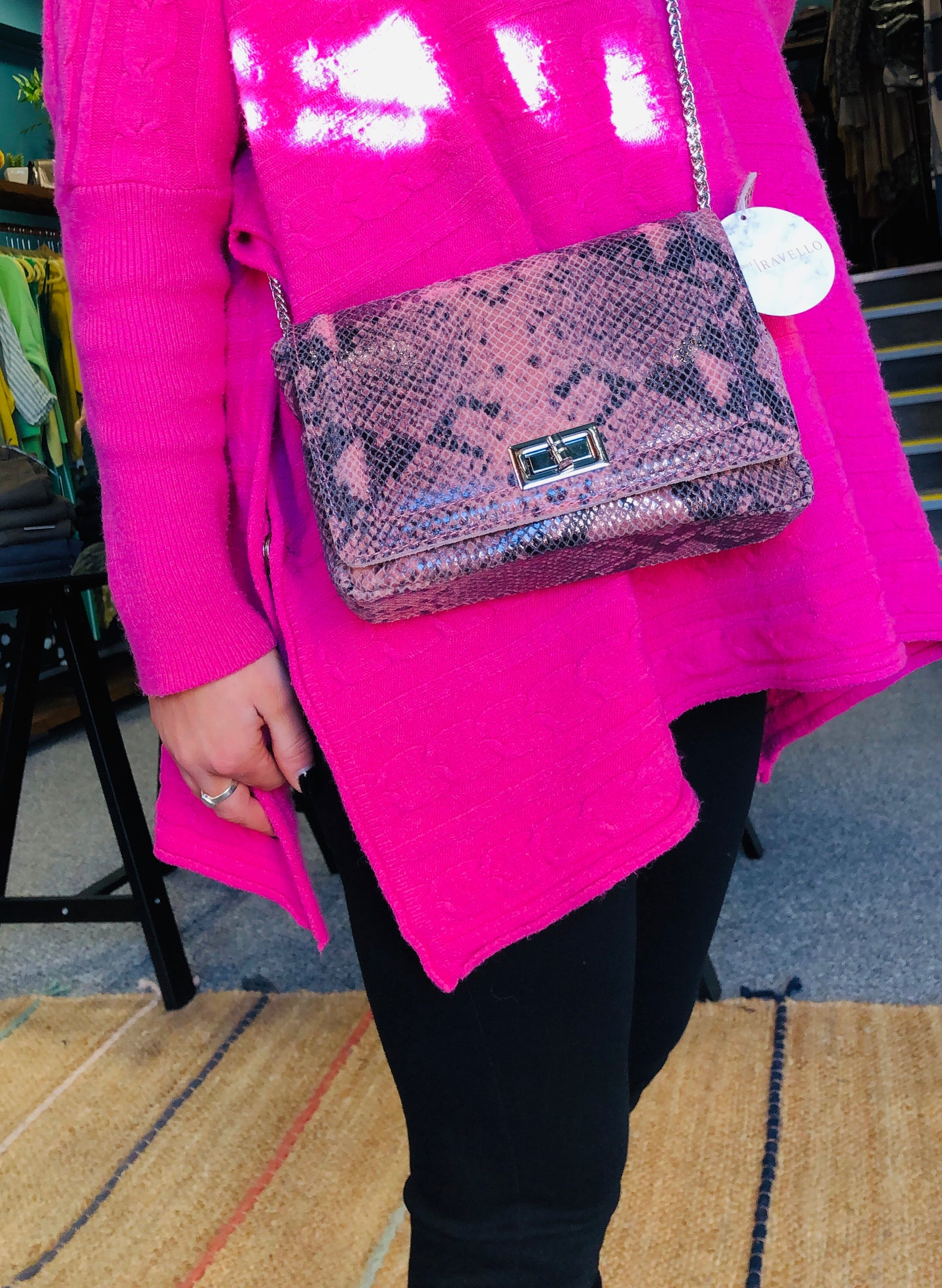Gisella Crocodile Chain Bag