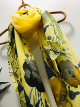 Water Colour Floral Scarf In Limoncello
