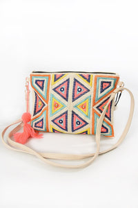 Neon Tassel Clutch Bag