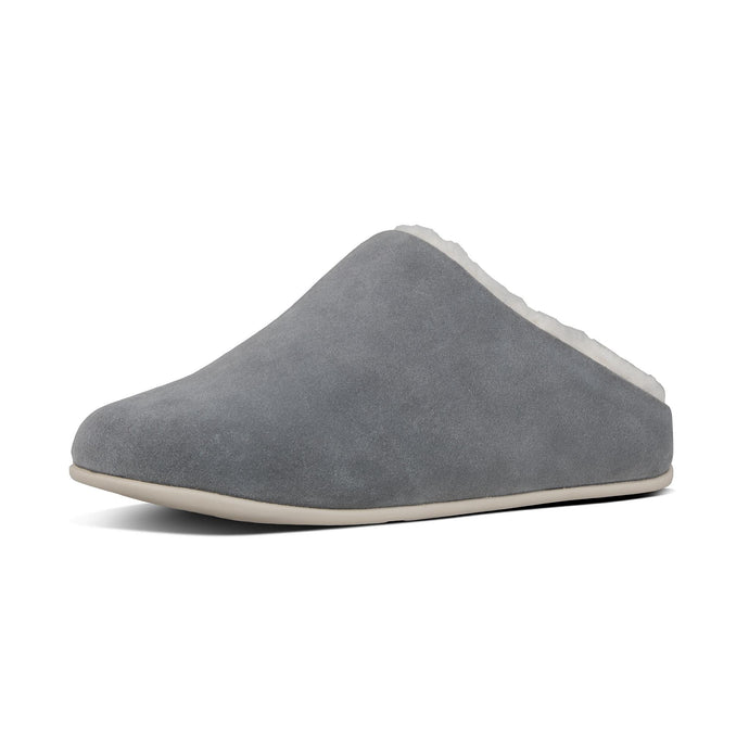 FitFlop Chrissie Shearing Grey Suede Slipper