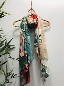 Pear Tree Scarf In Bianco