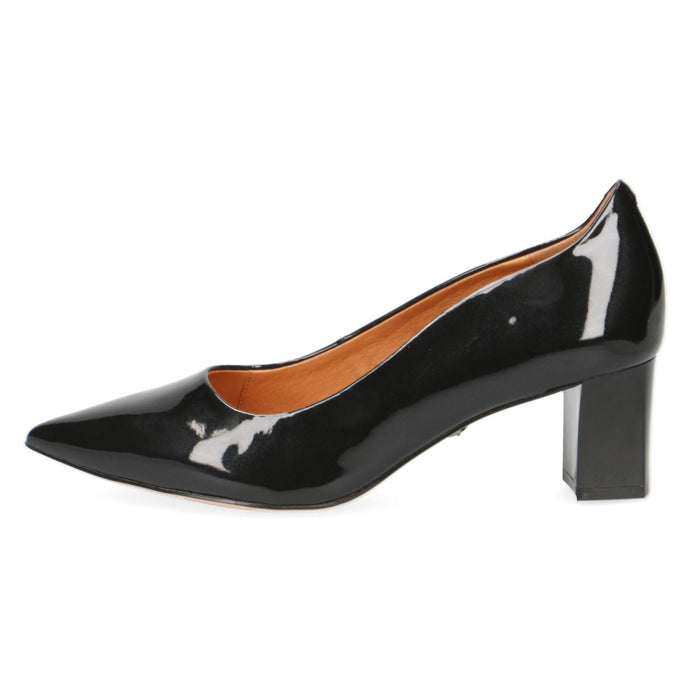 Caprice Black Patent Court Shoe
