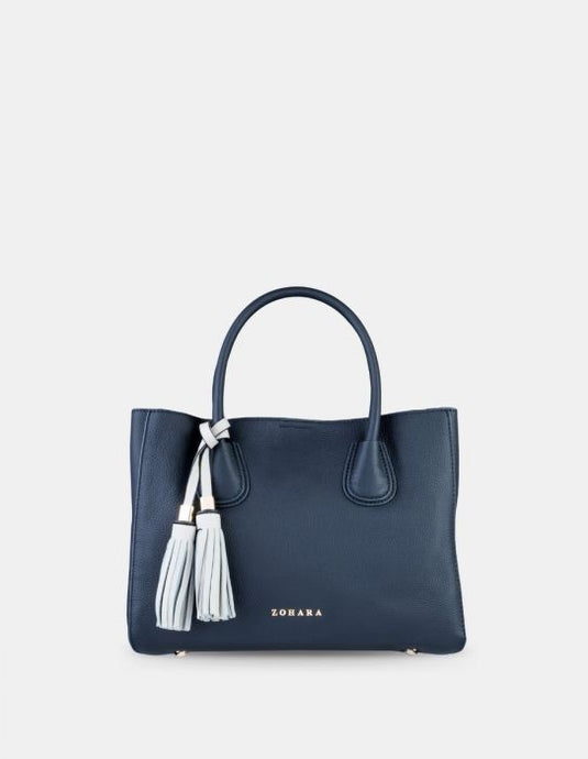 Zohara Strangford Box Navy Handbag