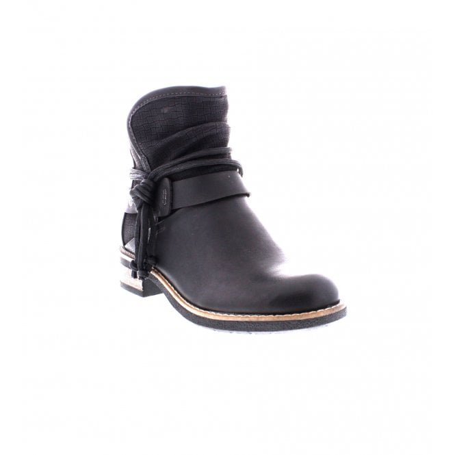 Rieker Black Fleece Lining Boot