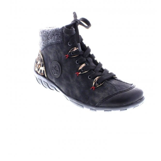 Rieker Black Lace Up Boot