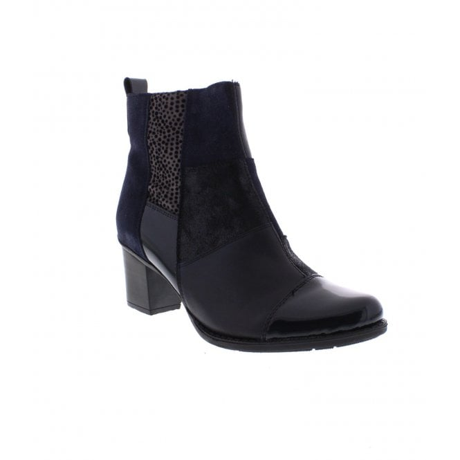 Rieker Blue Heeled Boot