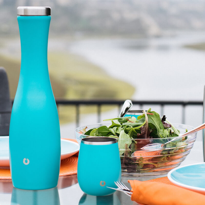 Stainless Steel Carafe in Teal - Wine Set