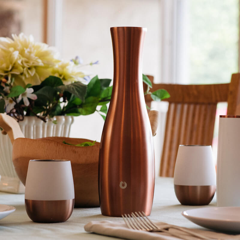 tainless Steel Carafe in Gold - Wine Set