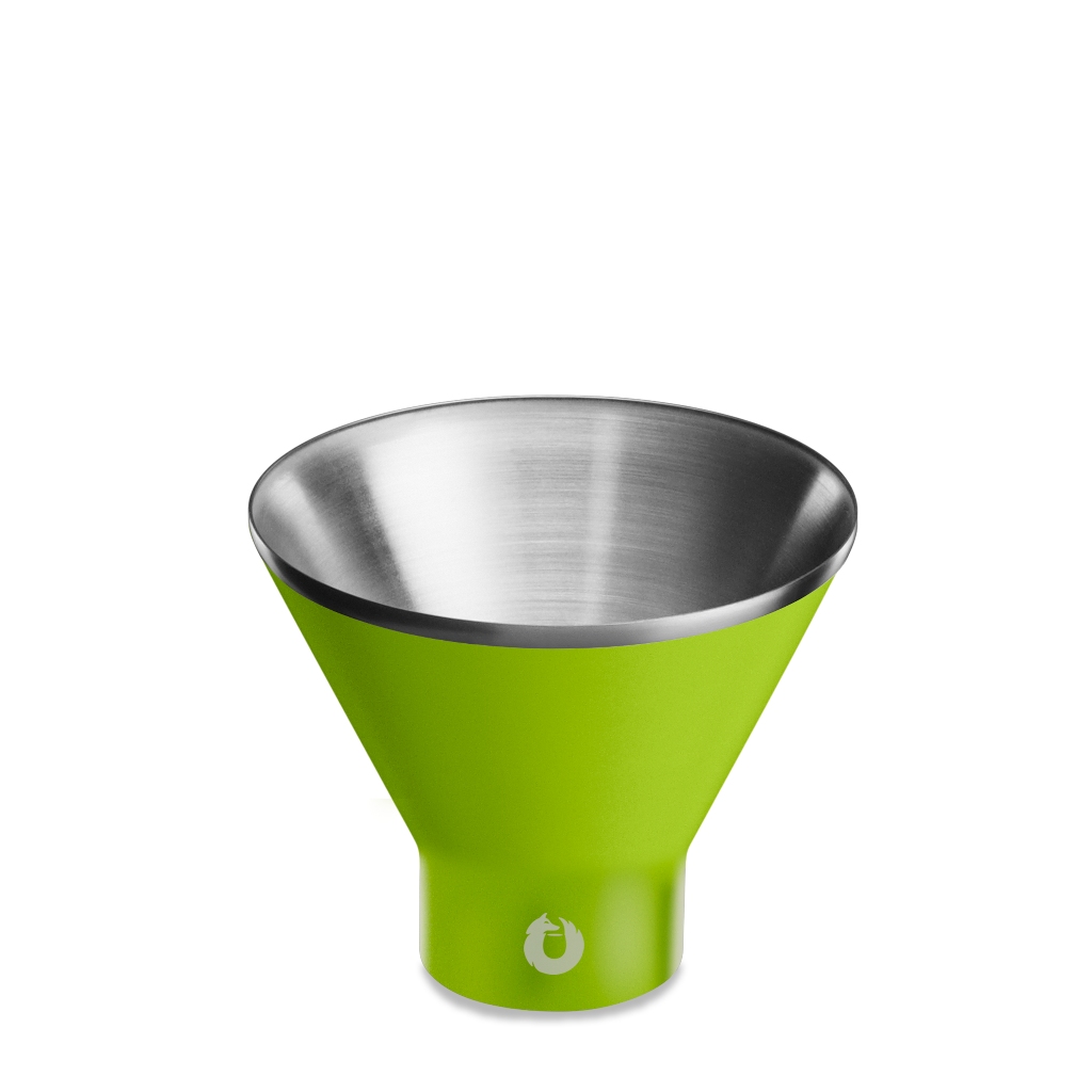 Stainless Steel Martini Glass in Lime - Top View