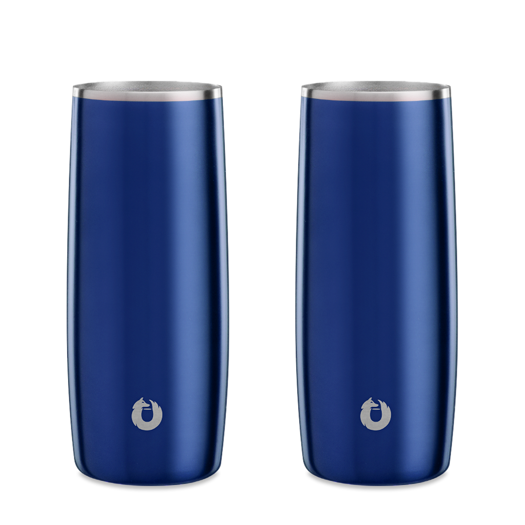 Stainless Steel Highball Glass in Navy Blue- Set of 2