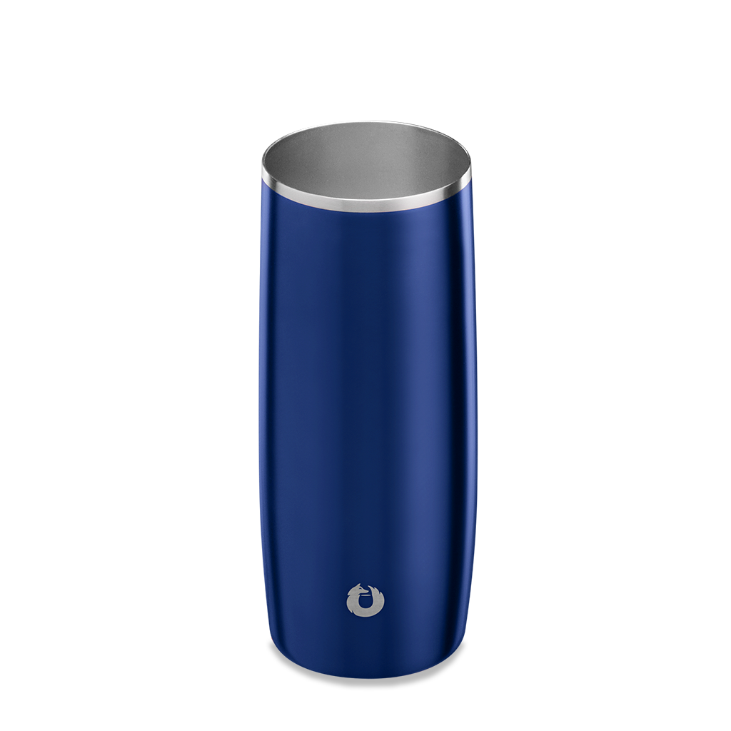 Stainless Steel Highball Glass in Navy Blue- Top View
