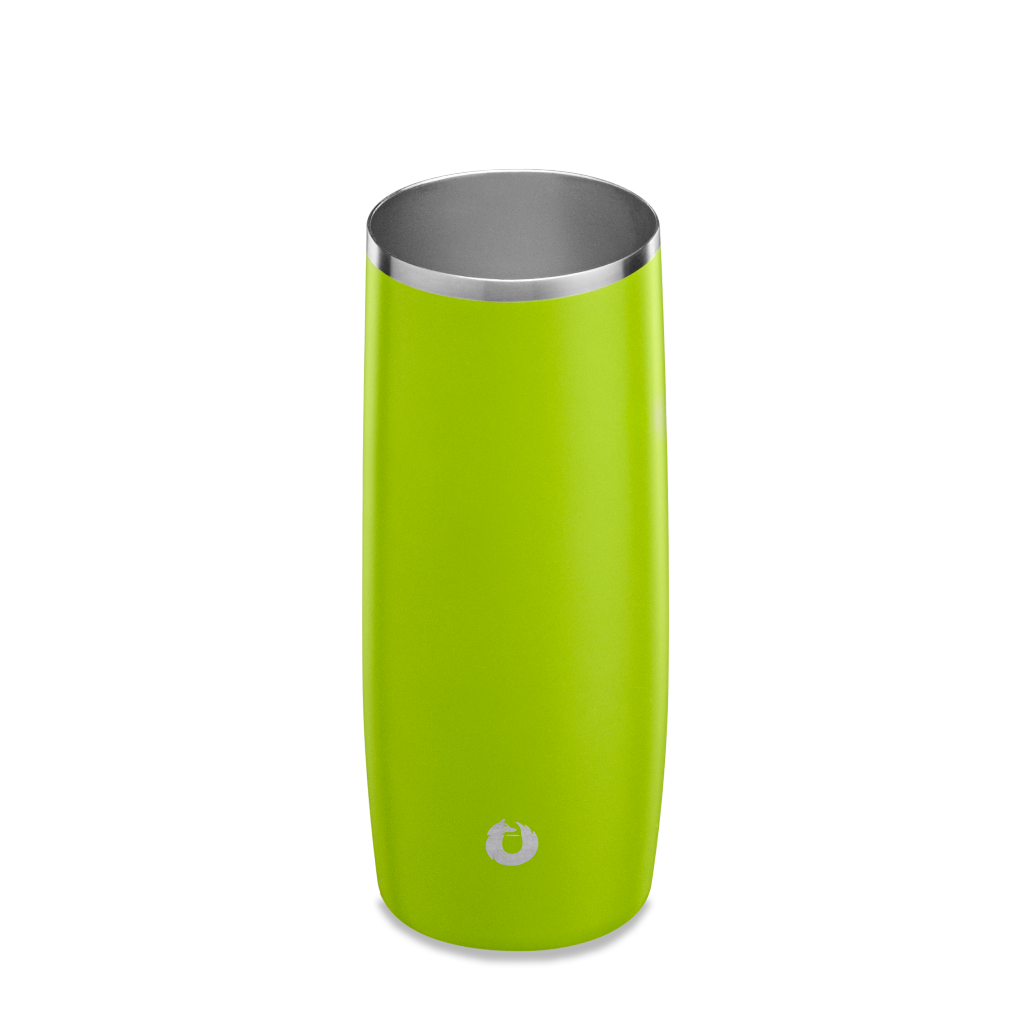 Stainless Steel Highball Glass in Lime- Top View