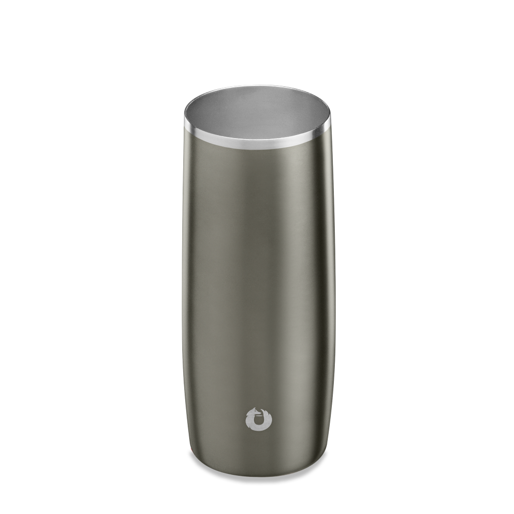Stainless Steel Highball Glass in Olive Grey - Top View