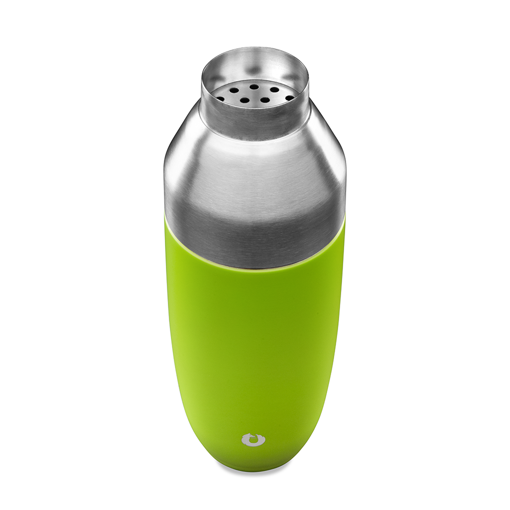 Stainless Steel Cocktail Shaker in Lime - Top View