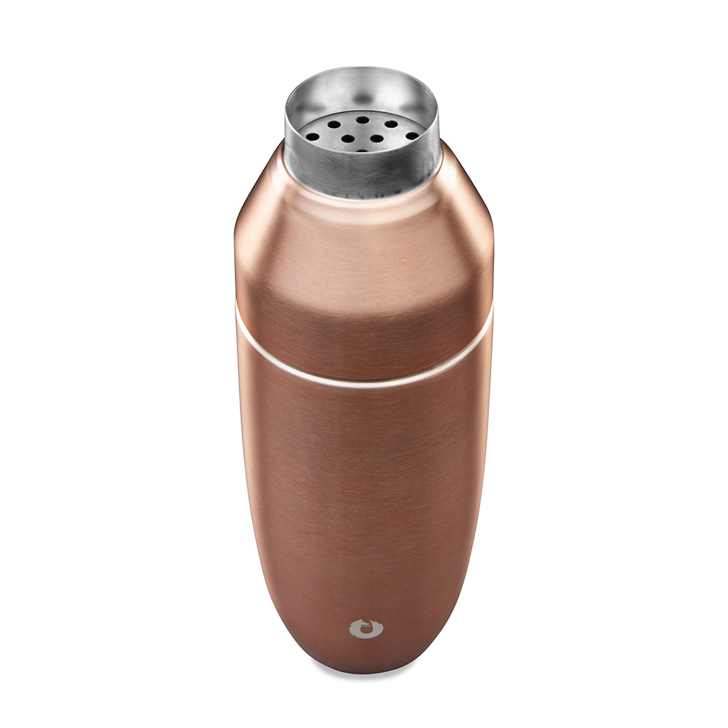 Stainless Steel Cocktail Shaker in Gold - Top View