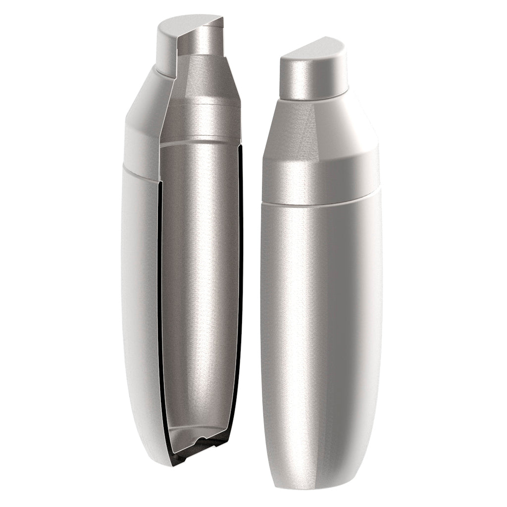 Insulated stainless steel keeps shaken cocktails ice cold, and keeps condensation at bay.