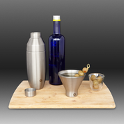 Stainless Steel Cocktail Shaker in Steel - In use