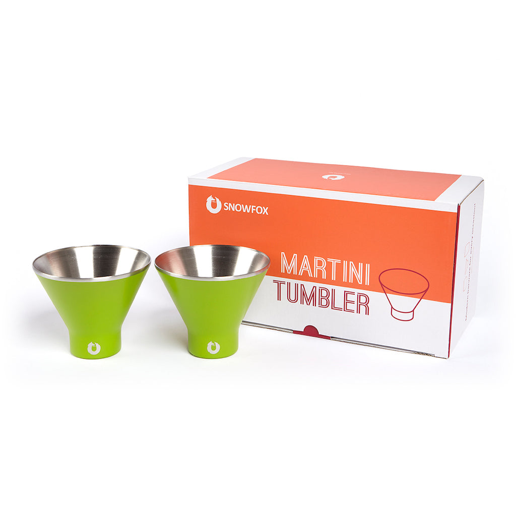 Stainless Steel Martini Glass in Light Gold - Gift Box