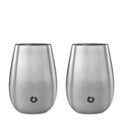 Stainless Steel Sauvignon Blanc Wine Glass in Steel - Set of 2