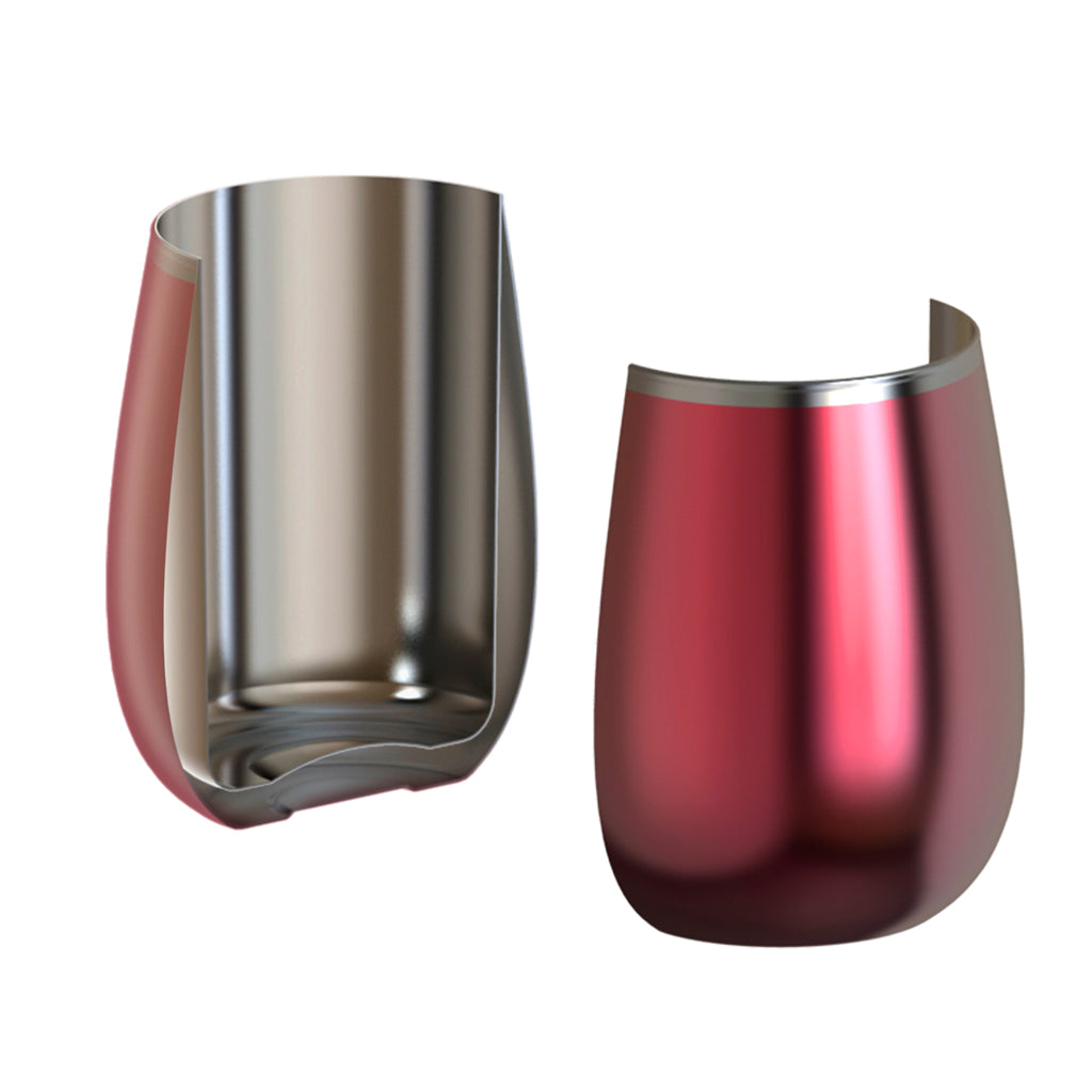 Vacuum insulated stainless steel design keeps wine at the perfect temperature and is unbreakable.