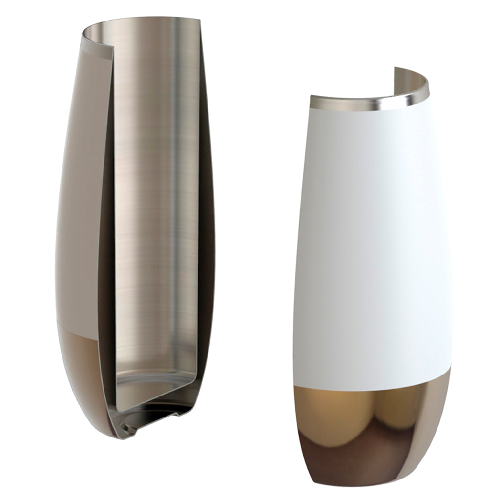 Double-walled stainless steel keeps champagne at the ideal sipping temperature.