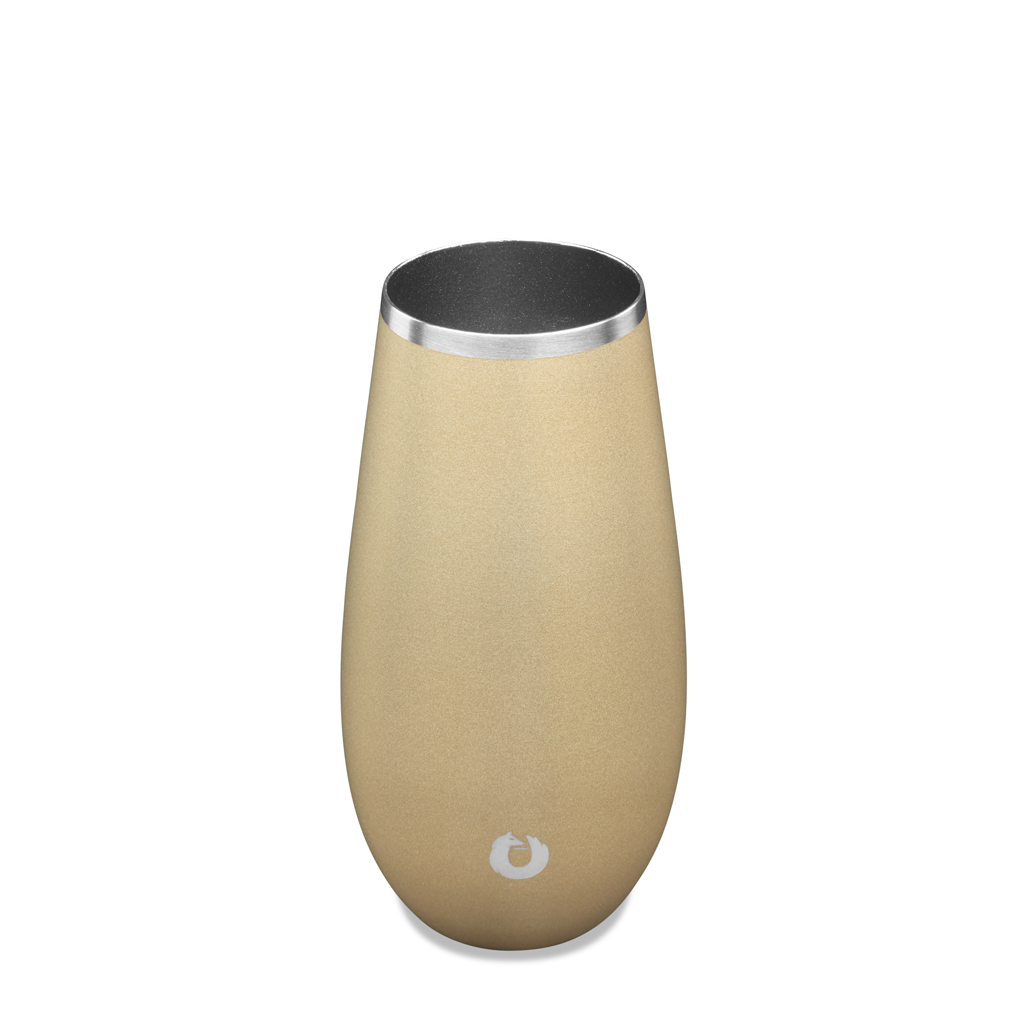 Champagne Flute in Light Gold - Top View
