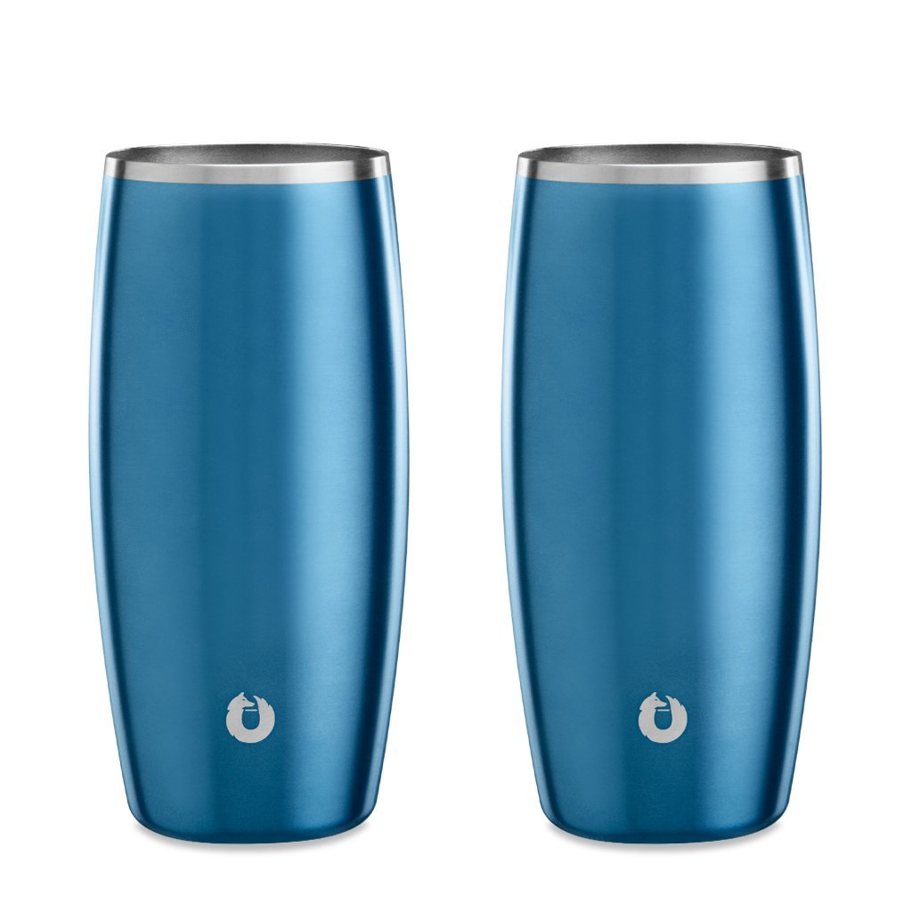 Soft-Blue: Stainless Steel Beer Glass