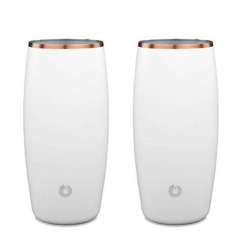 White: Stainless Steel Beer Glass