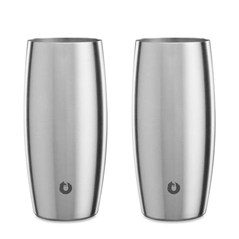 Stainless Steel Beer Glass in Steel - Easy Grip