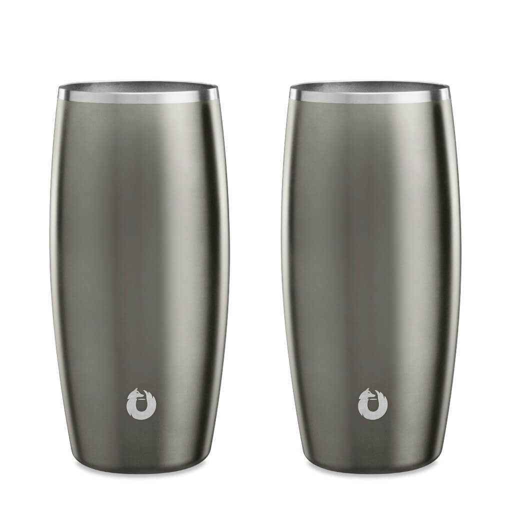 Olive-Grey: Stainless Steel Beer Glass