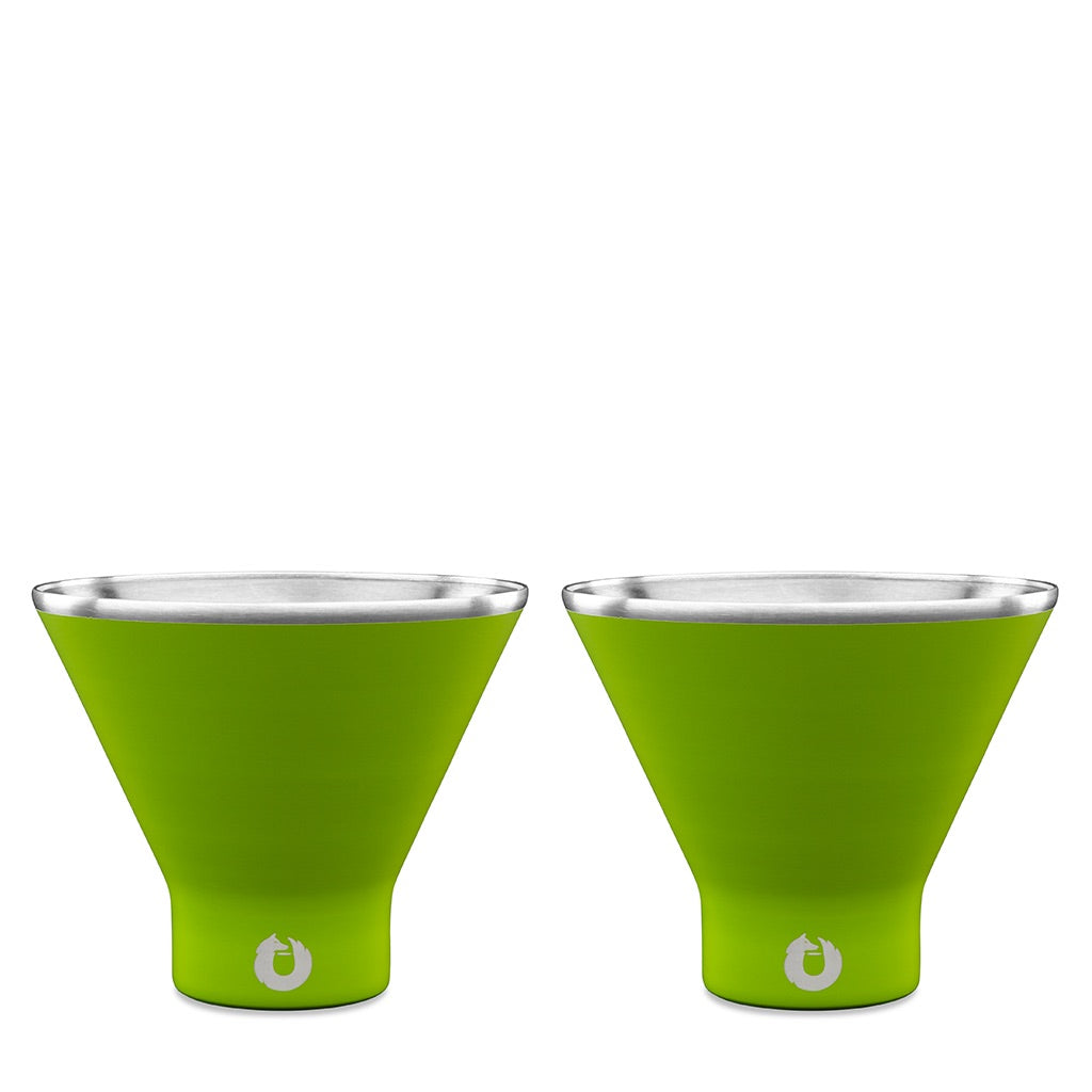 Lime: Stainless Steel Martini Glass