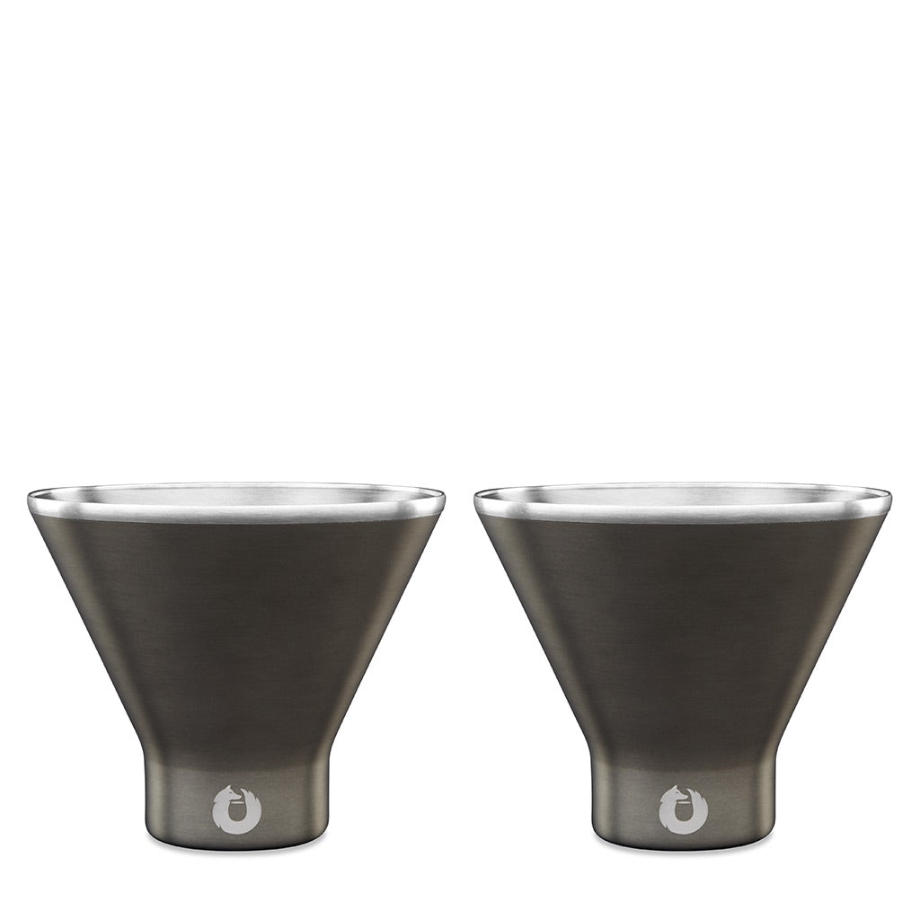 Olive-Grey: Stainless Steel Martini Glass
