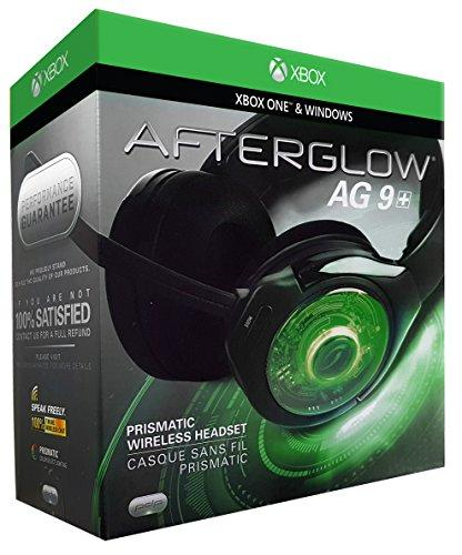 PDP 048-056-NA Afterglow 9 Over-Ear Noise Cancelling Headset for Xbox One - Black (Open Box), Headset only, NO Wireless dongle, NO Mic ***READ***