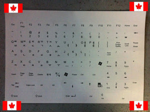 Keyboard Stickers for Korean Letters - White (Canadian Seller)