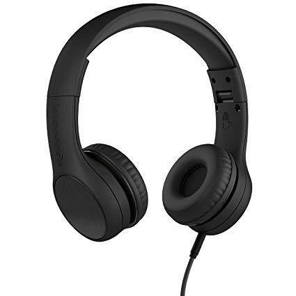 LilGadgets LGCS-02 Connect+ Style On-Ear Headphones - Black (Open box)