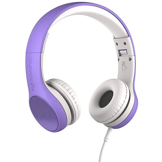 LilGadgets LGCS-05 Connect+ Style Purple On-Ear Headphones (Open box)