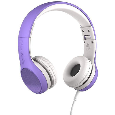 LilGadgets Connect+ Style On-Ear Headphones - Purple (Open box)