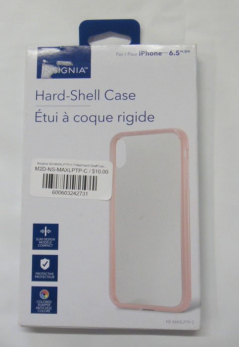 Insignia NS-MAXLPTP-C Fitted Hard Shell Case for iPhone XS Max - Clear/Pink (New Other)