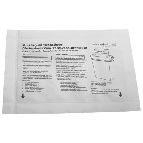 Final Touch PLS8 Paper Shredder Lubrication Sheets - 8-Pack