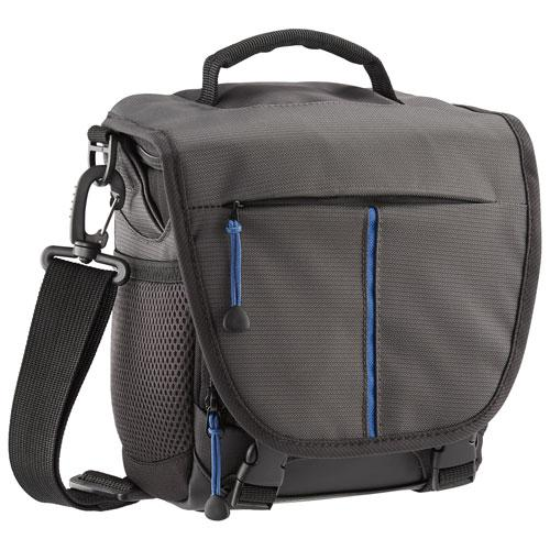 Insignia NS-DMBBG18-C DSLR & Mirrorless Camera Shoulder Bag - Medium - Grey ***READ*** Missing Shoulder Strap