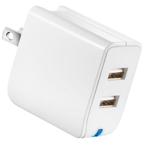 Insignia NS-MAC2U2NW-C 2 Port Wall Charger - White (Open Box)