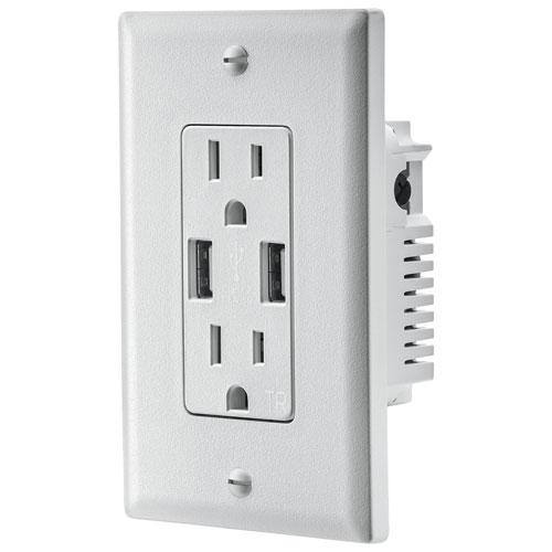 Insignia NS-HW36A217-C 3.6A Dual USB Charger Wall Outlet (New other)