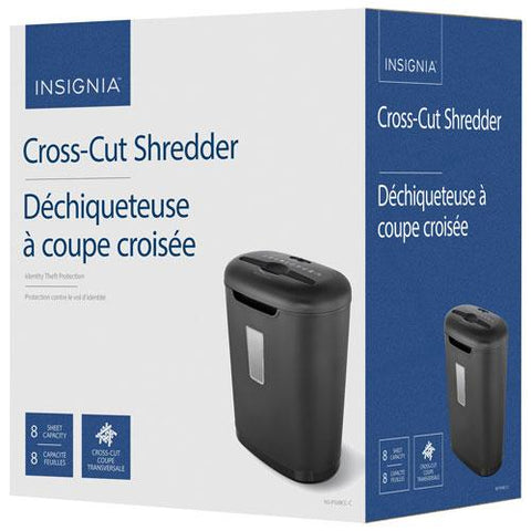 Insignia NS-PS08CC-C 8-Sheet Cross-Cut Shredder (Open Box)