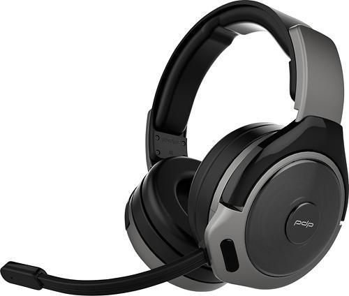 PDP Afterglow 048-056-NA-GE Sound of Justice Over-Ear Noise Cancelling Wireless Headset for Xbox One - Gun Metal (Open box) Headset ONLY, NO wireless dongle, NO mic ***READ***