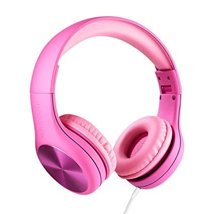 LilGadgets LGCS-04 Connect+ Style Pink On-Ear Headphones (Open box)