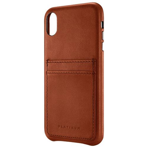 Platinum Series PT-MAXLSBLCP-C Leather Wallet for Apple iPhone XS Max - Papaya (New Other)